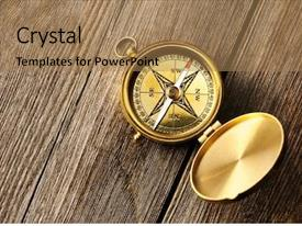 Theme having antique brass compass over wooden background and a coral colored foreground