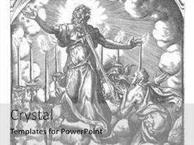 Presentation design consisting of apostle-john-has-a-vision background and a light gray colored foreground