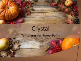 Cool new PPT layouts with halloween frame - apples copy space thanksgiving background backdrop and a coral colored foreground.