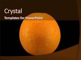 Amazing PPT layouts having arancia naturale su sfondo nero backdrop and a wine colored foreground
