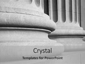 Cool new presentation with architectural columns in a classic backdrop and a light gray colored foreground