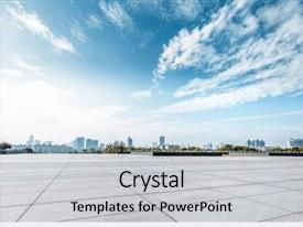 PPT layouts having architecture - empty square and floor background and a light gray colored foreground