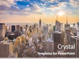 Theme consisting of architecture - new york new york usa background and a gray colored foreground