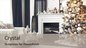 Theme featuring armchair with blanket cozy winter background and a light gray colored foreground