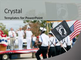 Army rotc powerpoint templates crystalgraphics ppt theme featuring army rotc color guard displaying flag background and a light gray colored toneelgroepblik Choice Image