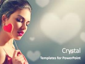 Presentation theme consisting of valentine - art - beauty joyful young background and a gray colored foreground.