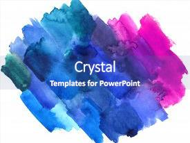 Theme enhanced with art design backdrop of paint background and a cobalt blue colored foreground.