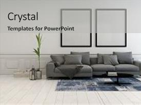 Audience pleasing PPT layouts consisting of neutral - art - minimalist grey backdrop and a light gray colored foreground.