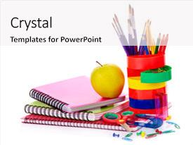 5000 school supplies powerpoint templates w school supplies themed beautiful theme featuring art school supplies isolated backdrop and a white colored foreground toneelgroepblik Images