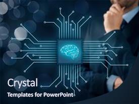 Artificial neural network powerpoint templates crystalgraphics slide deck with genetic artificial intelligence ai data mining background and a navy blue colored toneelgroepblik Gallery