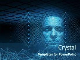 500 artificial neural network powerpoint templates w artificial amazing slide deck having artificial intelligence conceptual digital illustration with neural network structures and blue human toneelgroepblik Images