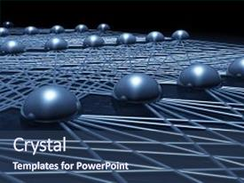 Beautiful PPT theme featuring artificial neural network structure fragment cg illustration with schematic blue model 3d render backdrop and a  colored foreground.