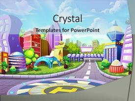 Cool new slide deck with artwork concept illustration realistic cartoon backdrop and a  colored foreground.