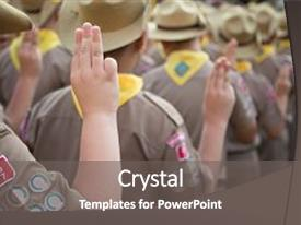 2000 boy scouts powerpoint templates w boy scouts themed backgrounds ppt layouts with asian boy scouts oath explained background and a gray colored foreground maxwellsz