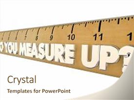 Theme having assessments class - do you measure up ruler background and a cream colored foreground.
