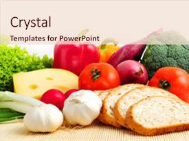 Cool new slides with assorted healthy food on white backdrop and a lemonade colored foreground.