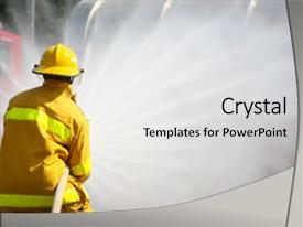 Amazing slide deck having attack during a training exercise backdrop and a light gray colored foreground