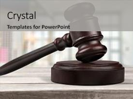 Presentation design having auction legal system authority judgement background and a light gray colored foreground