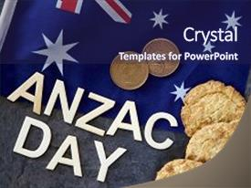 500 anzac day powerpoint templates w anzac day themed backgrounds presentation theme having australian military anzac day 25 background and a navy blue colored foreground toneelgroepblik Choice Image
