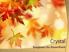 Audience pleasing slide set consisting of autumn leaves backdrop and a yellow colored foreground.