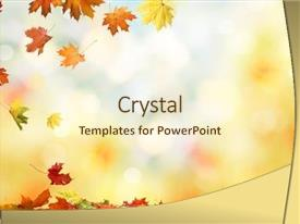 Slide deck with autumn maple leaves natural background background and a cream colored foreground