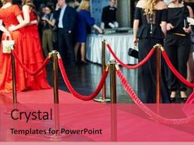 Slide set with award - event party red carpet entrance background and a red colored foreground