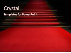 PPT layouts enhanced with award - red carpet on the stairs background and a wine colored foreground