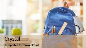 Beautiful presentation theme featuring back to school and happy backdrop and a coral colored foreground