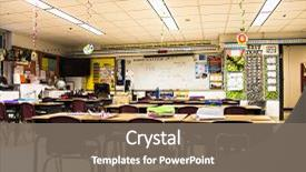 Slide deck consisting of back to school school classroom background and a gray colored foreground.