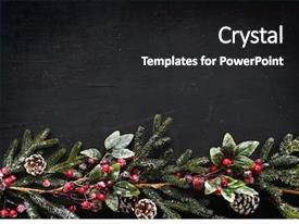 Cool new PPT theme with background - christmas design space wallpaper backdrop and a dark gray colored foreground