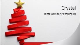 PPT theme enhanced with background - christmas tree made from ribbon background and a white colored foreground