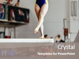 5000 gymnastics powerpoint templates w gymnastics themed backgrounds slide deck with balance beam competition in gymnastics background and a gray colored foreground toneelgroepblik Images