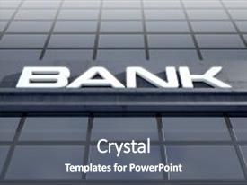 5000 banking powerpoint templates w banking themed backgrounds audience pleasing slide set consisting of banking light box signage above backdrop and a dark gray toneelgroepblik Image collections