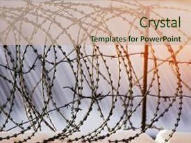 25 the salvation army powerpoint templates w the salvation army presentation design consisting of barbed wire fence prison concept background and a soft green colored foreground toneelgroepblik Images