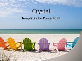 Slide deck enhanced with beach and ocean scenics background and a light blue colored foreground.