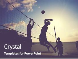 Volleyball Powerpoint Templates W Volleyball Themed Backgrounds