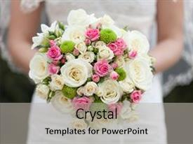 Cool new PPT theme with beautiful bouquet wedding bride wed young adult wedding design backdrop and a light gray colored foreground.