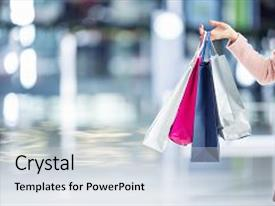 Top shopping powerpoint templates backgrounds slides and ppt themes beautiful slides featuring beautiful happy girl with credit card and shopping bags in shopping mall shopping toneelgroepblik Images
