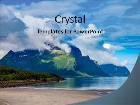 PPT theme enhanced with beautiful nature norway natural landscape background and a light blue colored foreground.