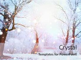 snow background for powerpoint