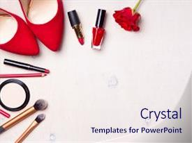 Lipstick powerpoint templates ppt themes with lipstick backgrounds ppt theme consisting of beauty cosmetic white background makeup background and a sky blue colored foreground toneelgroepblik Images