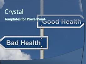 cool new ppt theme with bad being in good health versus backdrop and a ocean