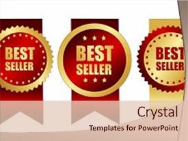 2000 service award powerpoint templates w service award themed beautiful slide set featuring best seller award ribbons backdrop and a lemonade colored foreground toneelgroepblik Choice Image