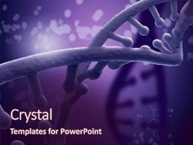 Colorful presentation design enhanced with dna - biotechnology genetic research backdrop and a wine colored foreground.