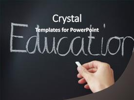 PPT theme consisting of black board - education im primary school teaches background and a dark gray colored foreground.