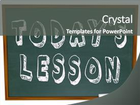 Cool new PPT layouts with black board - words today s lesson backdrop and a dark gray colored foreground.
