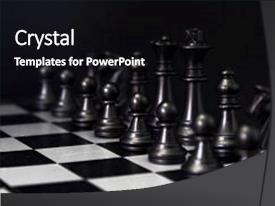 Presentation theme enhanced with black chess figures on board black chess set in order for game start black chess figures row on checkered board chess figurine order checkmate game banner template intellectual sport tactic game background and a  colored foreground.