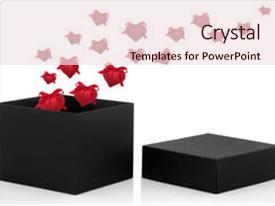 Slides featuring black gift box open background and a lemonade colored foreground.