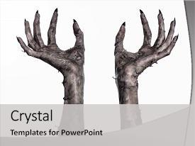 Slide Deck Featuring Black Hand Of Death Background And A Light Gray Colored Foreground