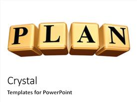 Slide set with black letters text - plan background and a white colored foreground.
